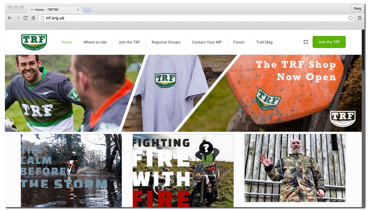 TRF website