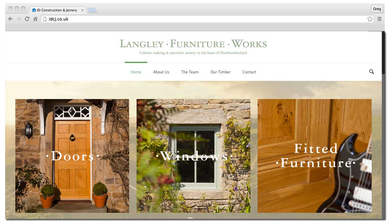 Langley Furniture Works Website